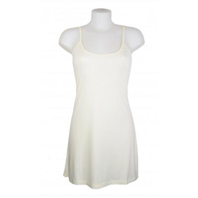 Fond de robe à bretelles, couleur Ecru