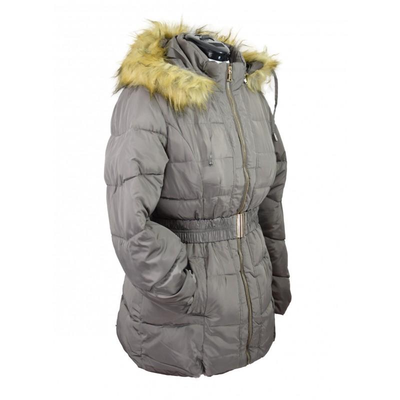Manteau capuche ceinture