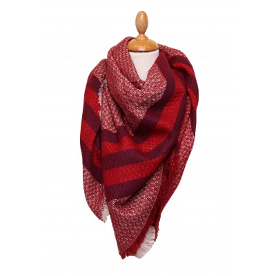 Grande écharpe hiver,laine,imprimée