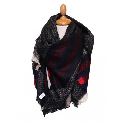 Grande écharpe hiver,laine,imprimé