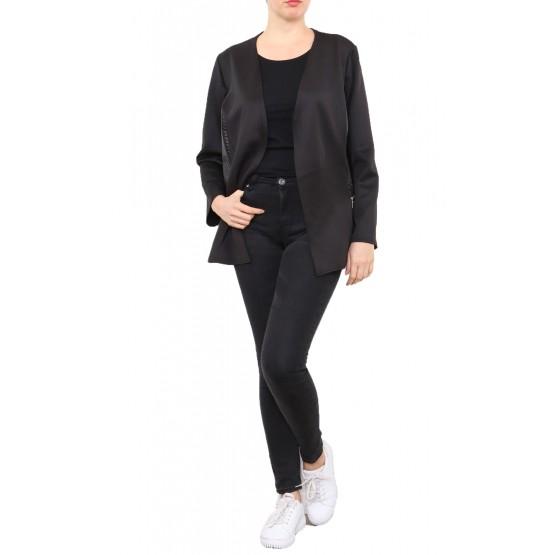 Tunique,robe noire, grande taille, 46-52