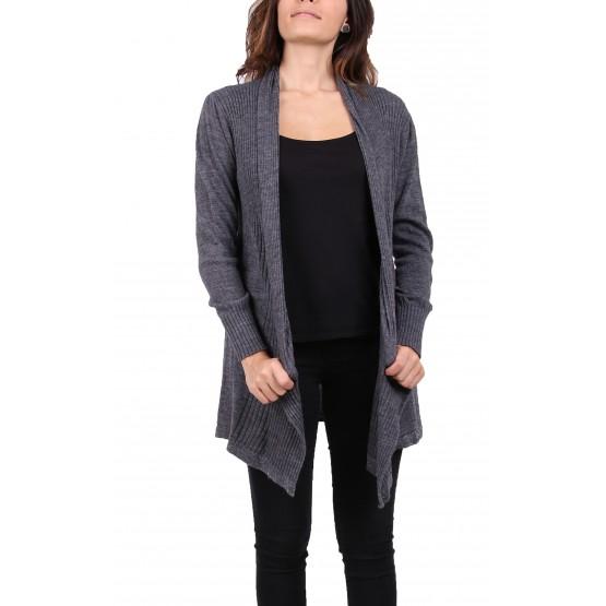 Gilet laine,couleur unie,noir