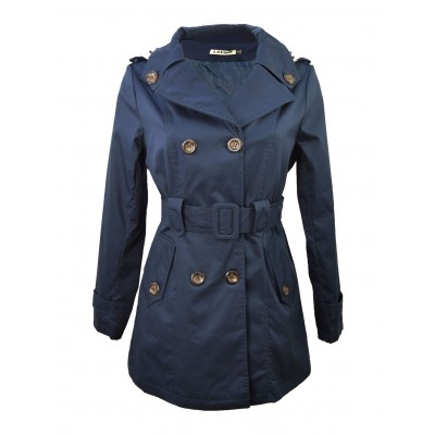 Trench imperméable, Bleu Marine, taille S - XXL