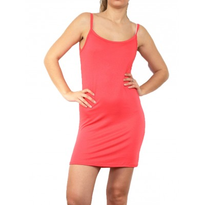 Fond de robe,petite robe d'été,corail