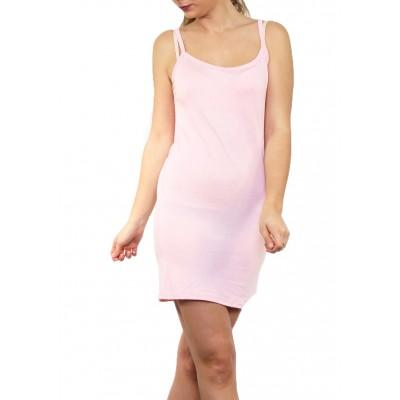 Fond de robe,chemise de nuit,rose