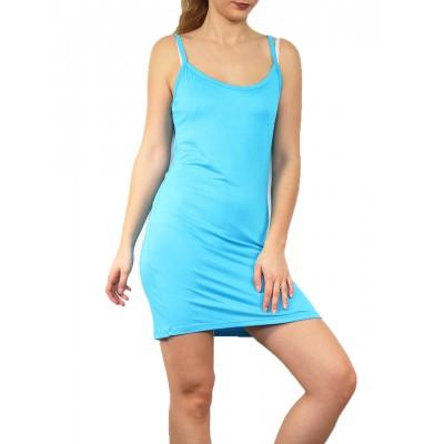 Fond de robe,chemise de nuit,turquoise