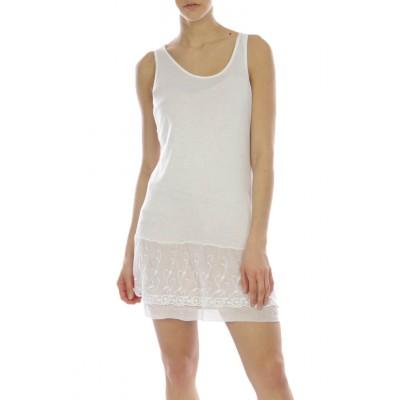 Fond de robe,tunique,couleur Blanc