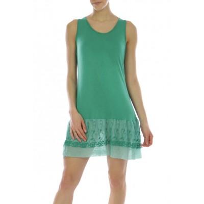 Fond de robe,tunique,couleur vert