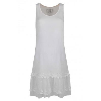 Fond de robe, couleur Blanc
