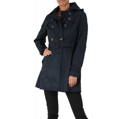 Trench imperméable à capuche, Marine, taille S - XXL