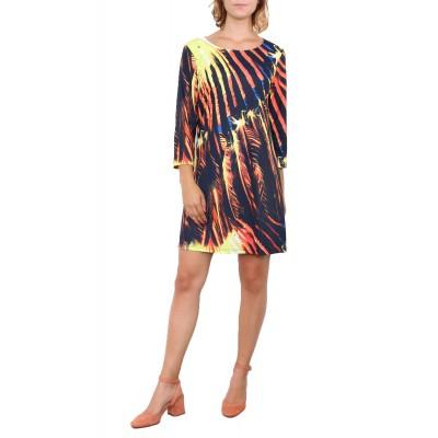 Robe imprimée, motif rayon soleil