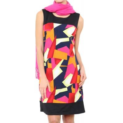 Robe imprimée, couleur Rose