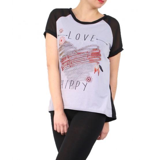 T-shirt à manches courtes en grande taille