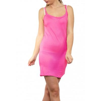 Fond de robe,chemise de nuit,Fushia