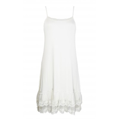 Fond de robe blanc,bas en dentelle
