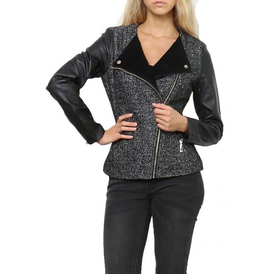 Jacket, Veste  courte, Noir,taille XS-XL