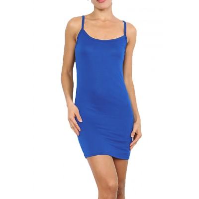 Fond de robe,chemise de nuit,Bleu royal