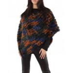 Poncho,cape en fourrure lapin,Multicolor