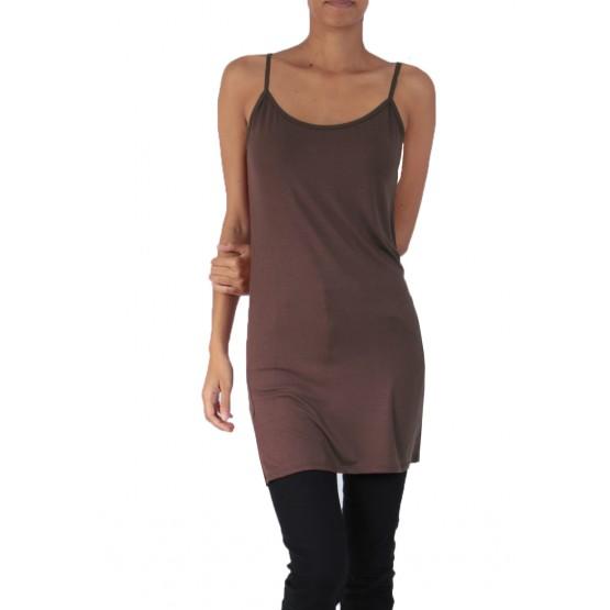 Fond de robe,chemise de nuit,marron