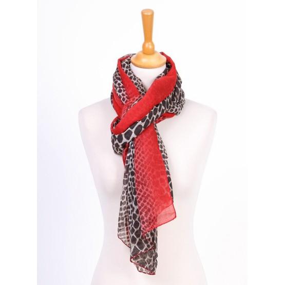 Foulard imprimée à petits pois,rouge