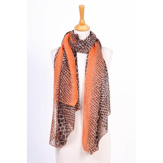 Foulard imprimée à petits pois,orange