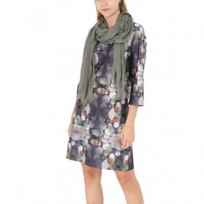 Robe imprimee,gris,tailles 38-44
