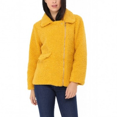 Manteau court moumoute jaune