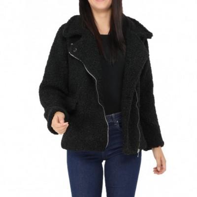Manteau court moumoute noir