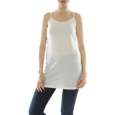 Fond de robe à bretelles, couleur blanc crème