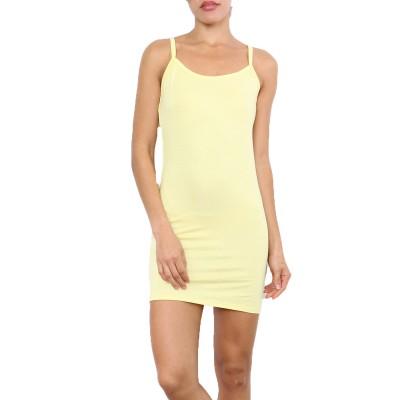 Fond de robe,petite robe d'été,jaune