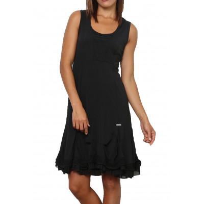 Robe noire, couleur unie,taille M