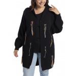 Grand gilet en laine,Cardigan en Tricots,capuche,grande taille 42-46