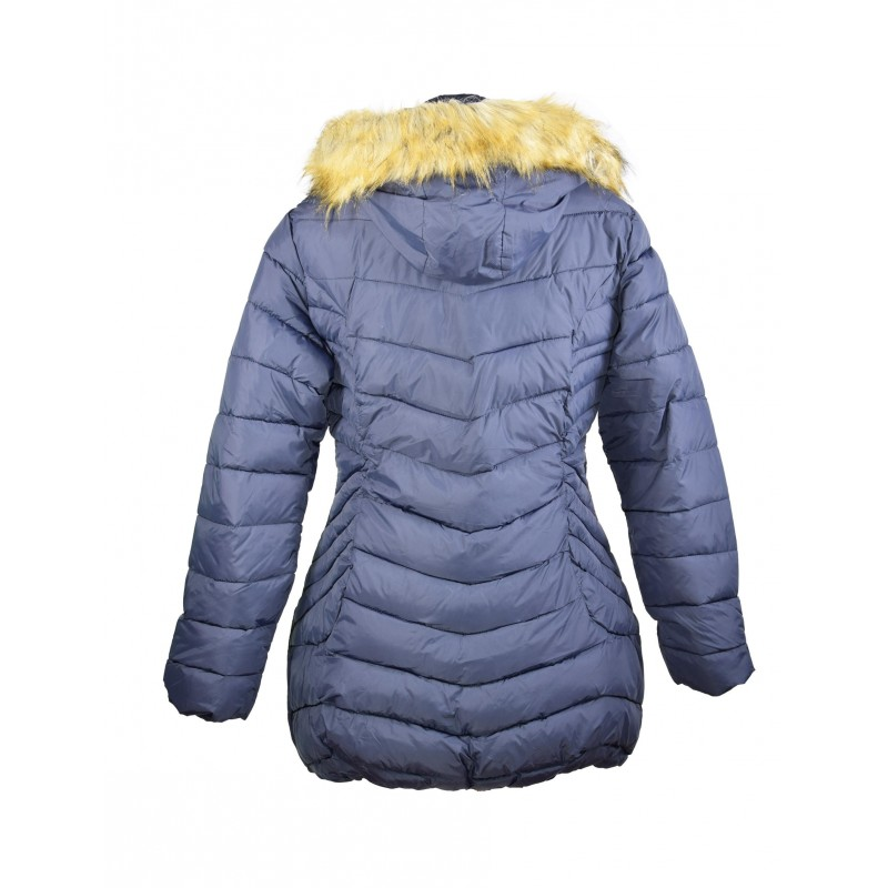 doudoune manteau femme bleu grande taille miss rouge. Black Bedroom Furniture Sets. Home Design Ideas