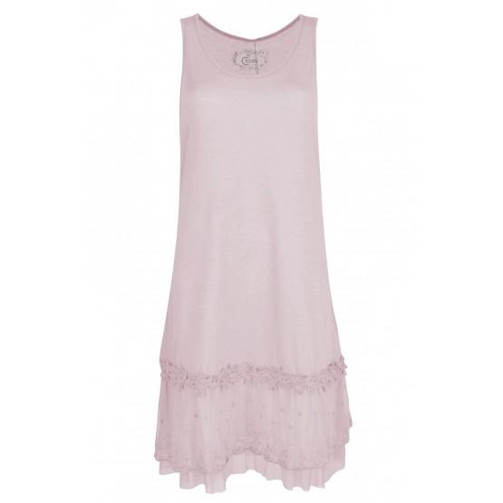 Fond de robe, couleur Fushia
