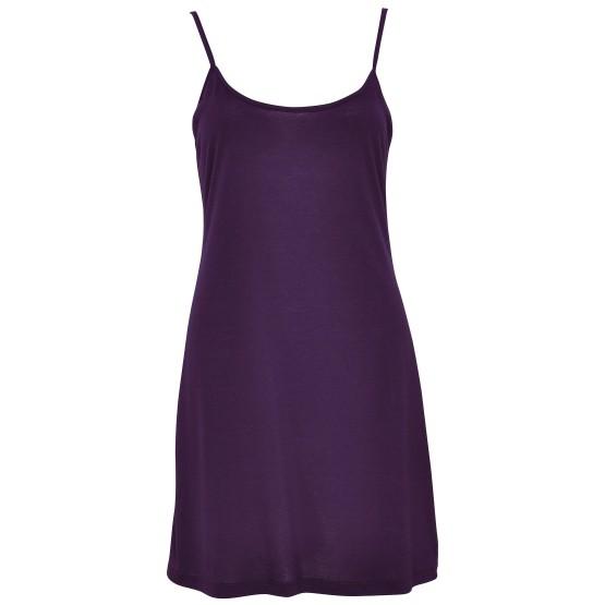 Fond de robe à bretelles, couleur PRUNE