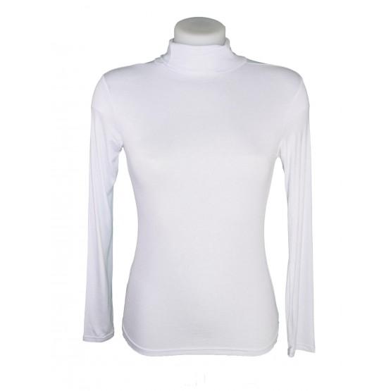 T-shirt, sous pull femme à manches longues, col roulé